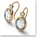 Baccarat Croise Earrings Vermeil Gold, Clear