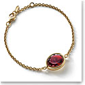 Baccarati Croise Bracelet Vermeil Gold, Red