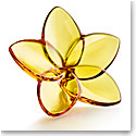 Baccarat Bloom Amber Flower Sculpture