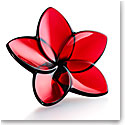 Baccarat Bloom Red Flower Sculpture