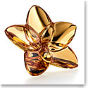 Baccarat Bloom Gold Flower Sculpture