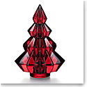 Baccarat Crystal 2019 Aspen Fir Tree, Red