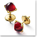 Baccarat Mini Medicis Earrings Vermeil Gold Pair, Red