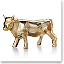Baccarat 2021 Zodiac Ox Sculpture, Gold