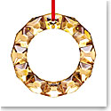 Baccarat 2020 Annual Wreath Christmas Ornament, 20k Gold