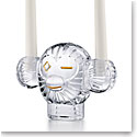 Baccarat Monkey Candleholder with 24k Gold
