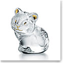 Baccarat Minimals Tiger, Clear and 20k Gold