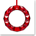 Baccarat 2021 Wreath Ornament, Red