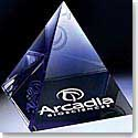Crystal Blanc, Personalize! Optic Pyramid Paperweight 3""