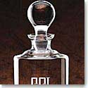 "Crystal Blanc, Personalize! Uptown Whiskey Decanter 10 1/2"" 34 oz"