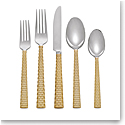 Michael Aram Palm Gold 5pc Flatware Set
