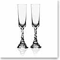 Michael Aram, Rock Crystal Champagne Crystal Flute, Pair