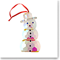 Villeroy and Boch 2020 Crystal Gems Iridescent Snowman Ornament