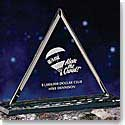 "Crystal Blanc, Personalize! 8"" Pyramid Award"