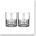 Rogaska Crystal, Fan Club Crystal DOF Tumbler, Pair
