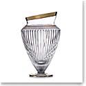 "Rogaska Crystal, Amphora Crystal Vase 13"" Gold"