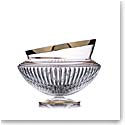"Rogaska Crystal, Amphora Crystal Bowl 10"" Gold"