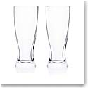 Rogaska Expert Pilsner Beer Glass, Pair