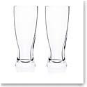 Rogaska Expert Pilsner Beer Glass, Pair