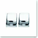 Rogaska Crystal, 90 Degrees Crystal DOF Tumbler, Pair