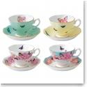 Miranda Kerr For Royal Albert Teacups and Saucers, Set of Four