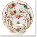 Royal Albert Old Country Roses 2018 Christmas Tree Dinnerware, 5 Piece Place Setting
