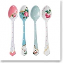 Royal Albert China New Country Roses Tea Party Vintage Mix Set of 4 Ceramic Spoons