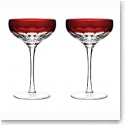 Waterford Mixology Talon Red Coupe Pair