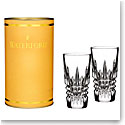 Waterford Giftology Lismore Diamond Vodka Crystal Shot Glass, Pair