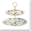 Wedgwood Wild Strawberry Cake Stand Two-Tier