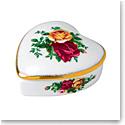 "Royal Albert Old Country Roses Heart Box 2.4"""
