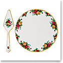 Royal Albert Old Country Roses Cake Plate and Server