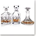 Waterford Huntley Set of Three Whiskey Decanters
