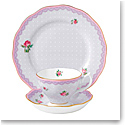 "Royal Albert Candy Teacup, Saucer and 8"" Plate Set Love Lilac"