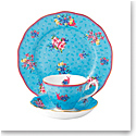 "Royal Albert Candy Teacup, Saucer and 8"" Plate Set Honey Bunny"