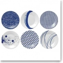Royal Doulton Pacific Set of Six Tapas Plates Mixed Patterns