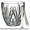 Marquis by Waterford Crystal, Brookside Clear Ice Bucket with Tongs