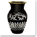 "Waterford Crystal, Jeff Leatham Fleurology Cleo 8"" Cachepot, Black"