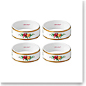 "Royal Albert Old Country Roses Napkin Ring 2.2"" Set Of 4"