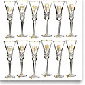 Waterford 12 Days of Christmas Gold Flute Collection, Set of 12
