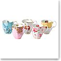 Royal Albert 100 Years 1950-1990 5-Piece Mug Set 14.1 Oz
