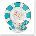"Royal Albert 100 Years 1930 Teacup, Saucer and 8"" Plate Setmint Deco"