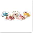 Royal Albert 100 Years 1950-1990 5-Piece Teacup and Saucer Set