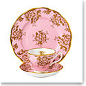 "Royal Albert 100 Years 1960 Teacup, Saucer and 8"" Plate Setgolden Rose"