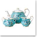 Royal Albert 100 Years 1950 Teapot, Sugar and Creamer Set Festival