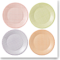 "Royal Doulton Pastels Accent Plates 9"" Set of 4 Mixed Patterns"