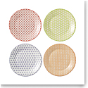 "Royal Doulton Pastels Accent Plates 6.3"" Set of 4 Mixed Patterns"