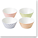 "Royal Doulton Pastels Accent Bowls 4.3"" Set of 4 Mixed Patterns"