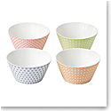 "Royal Doulton Pastels Accent Bowls 6"" Set of 4 Mixed Patterns"