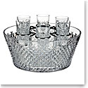 Waterford Crystal, House of Waterford Alana Vodka Chiller with 6 Shot Crystal Glasses, Limited Edition of 260